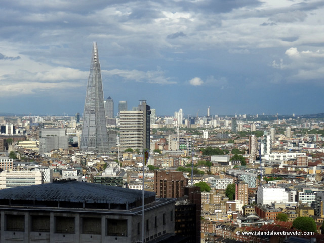 Part of the London Skyline including The Shard