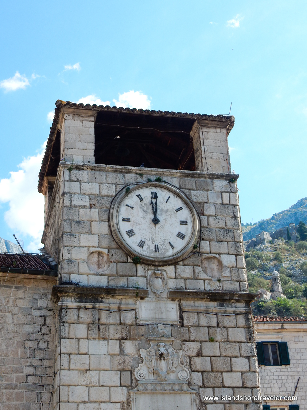 Clock Tower in Kotor's Old Town