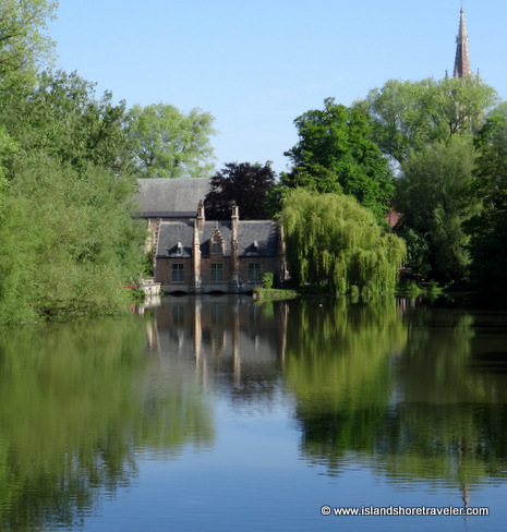On Minnewater Lake, Bruges, Belgium