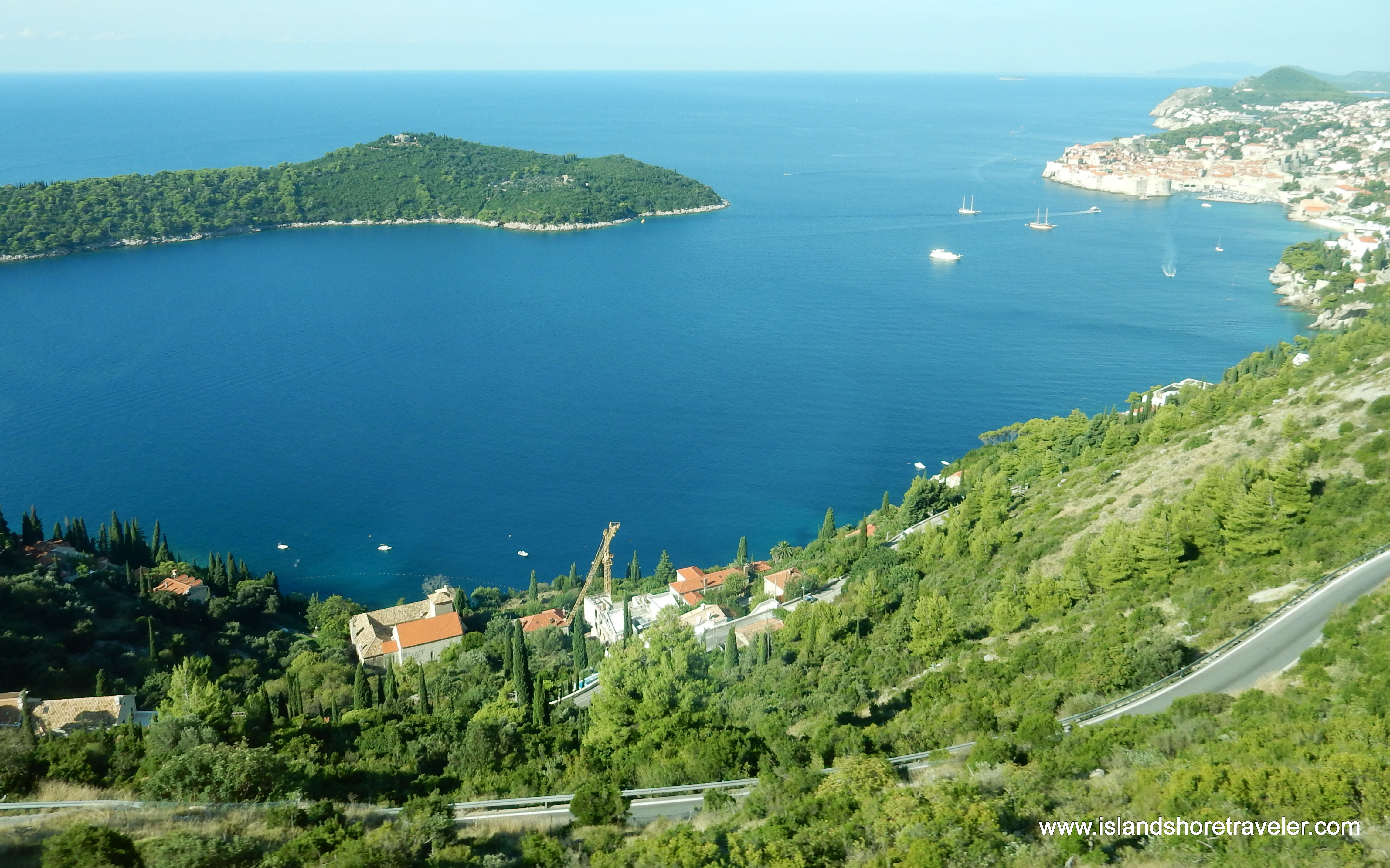 Along the Croatian Riveria between Dubrovnik and Cavtat