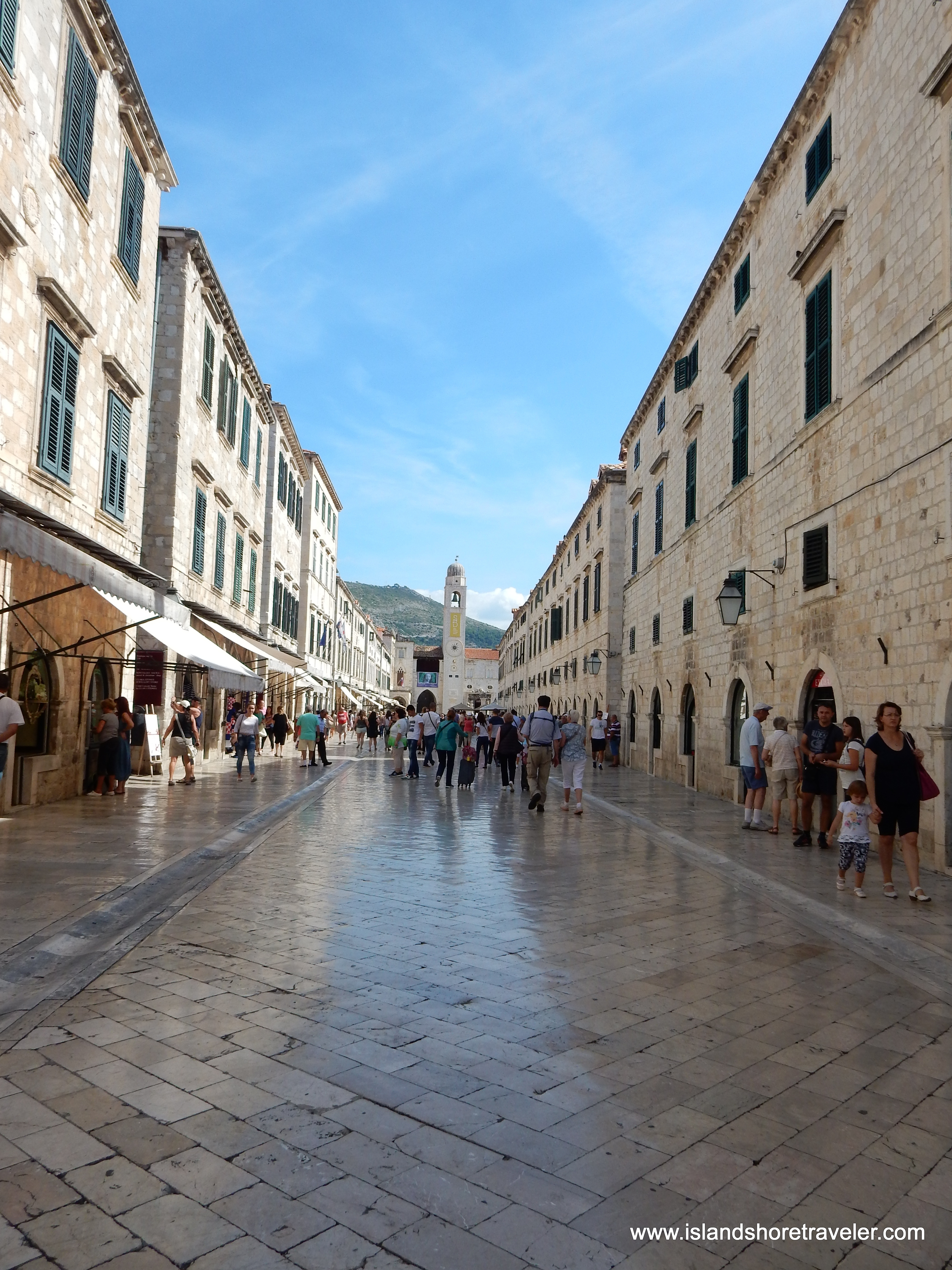The Stradun in Old Town Dubrovnik