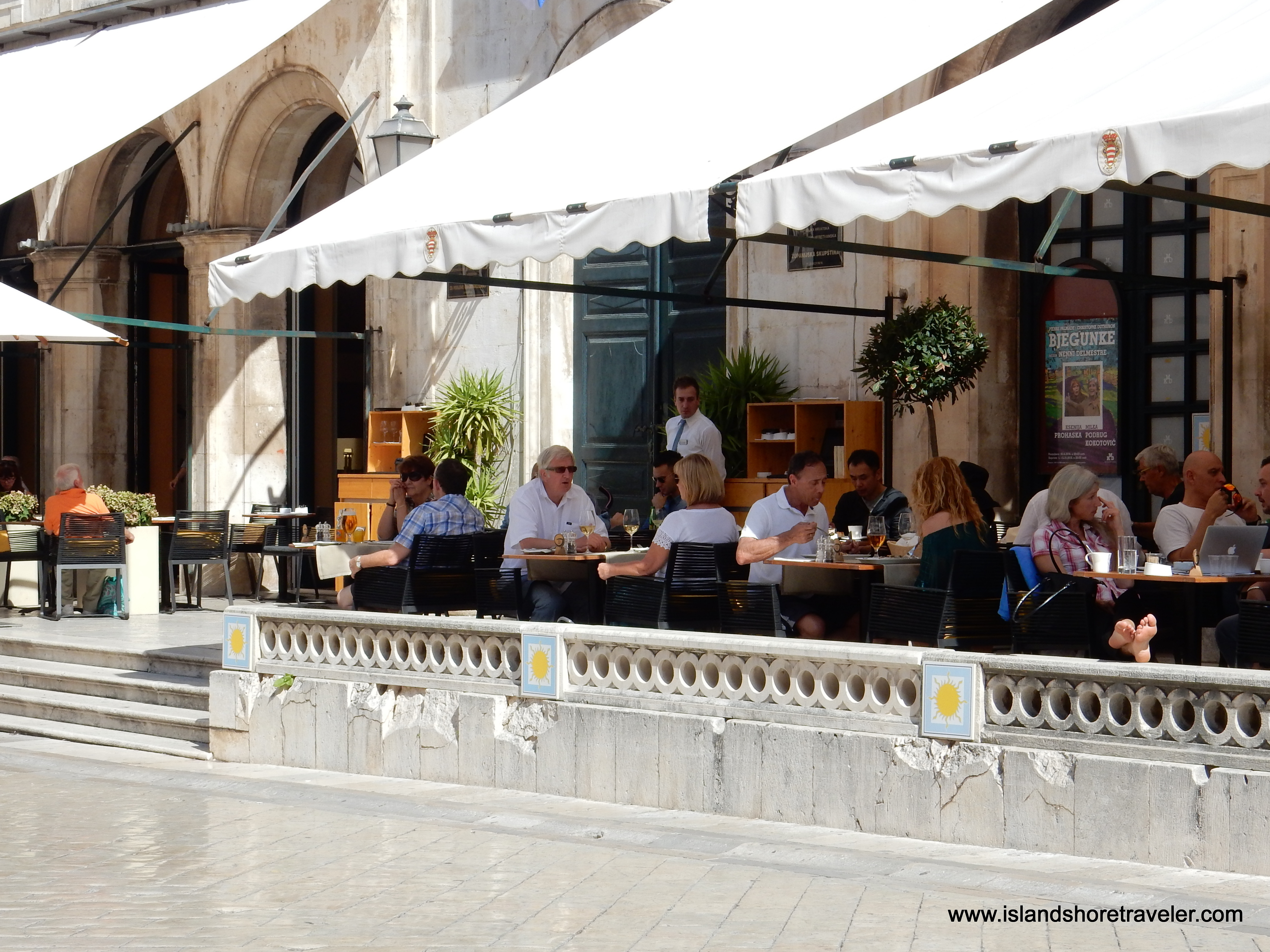 Sidewalk Café along the Stradun in Dubrovnik